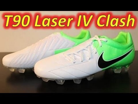 Nike T90 Laser IV Kanga-LIte White/Black/Electric Green (Euro 2012 Clash  Collection) - UNBOXING