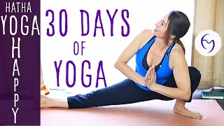 Hatha Yoga Happiness - Free 30 Day Yoga Program thumbnail