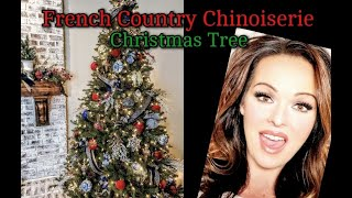 French Country Chinoiserie Decorated Christmas Tree & Giveaway!