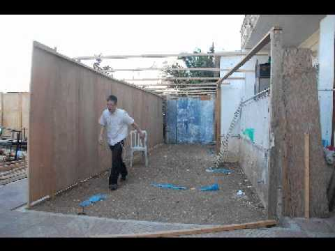 how to build the fastest sukkah in the world