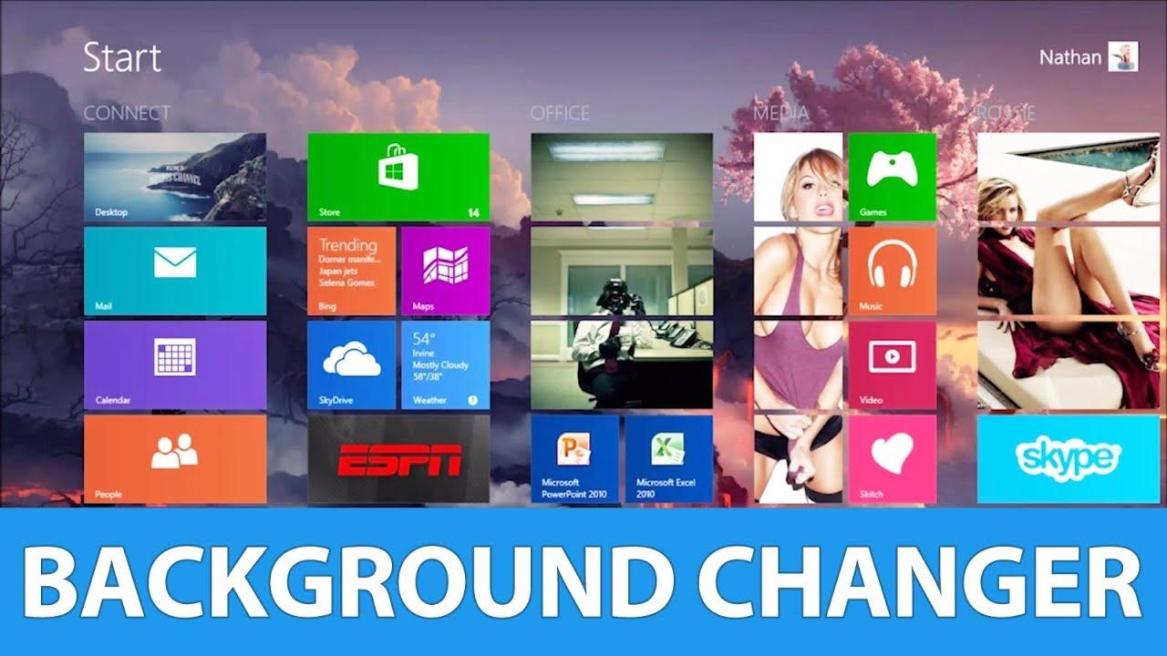 how to change start menu background