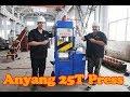 25 Ton blacksmith hydraulic press for bladesmith make Damascus blank