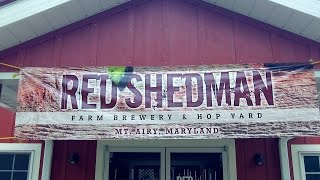 Red Shedman Farm Brewery & Hop Yard DJs BrewTube ON LOCATION Beer Reviews #825-832