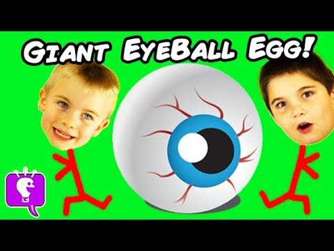 Giant EYEBALL Surprise Eggs with Weird Novelty Toys by HobbyKids