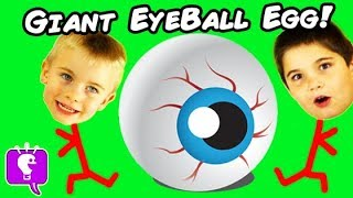 Video World's Biggest EYEBALL Surprise Eggs! Best Toys, Family Fun HobbyKidsTV download MP3, 3GP, MP4, WEBM, AVI, FLV Desember 2017