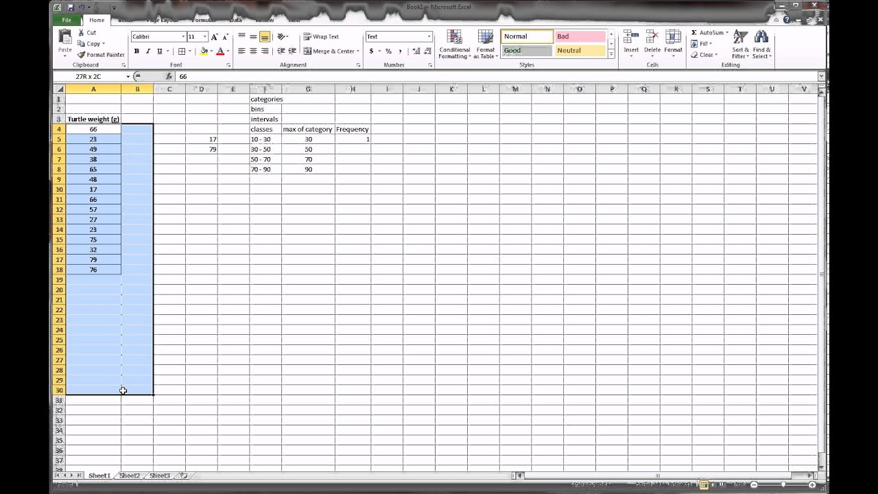 histogram in excel 2013 youtube