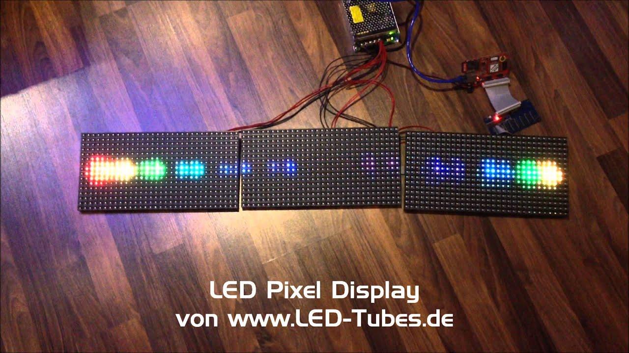 Led Display System Led Module Rgb Pixel Selberbau 16x32 Youtube