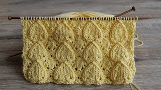 Узор «Сердечки» спицами | «Hearts» knitting pattern | Desen «Kalpler» örgü
