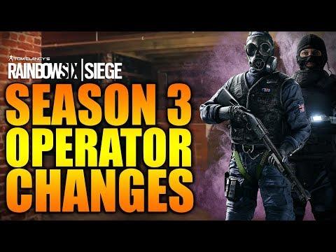 Rainbow Six Siege - In Depth: SEASON 3 CHANGES TO OPERATORS