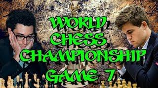 Carlsen vs Caruana | World Chess Championship 2018 - Game 7