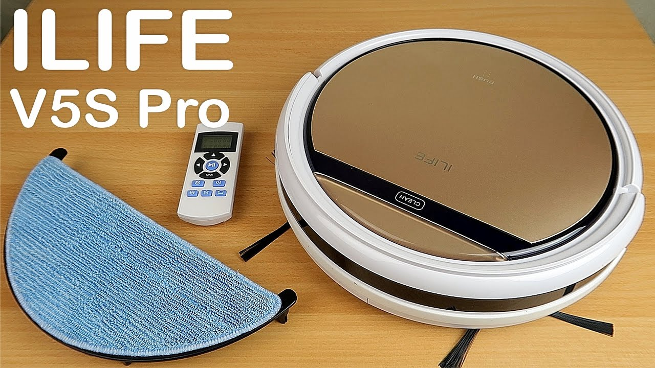 ILIFE V5S Pro - Робот-пылесос, который моет пол!