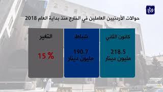 ارتفاع إجمالي حوالات العاملين الأردنيين في الخارج 13% في شهرين - (26-3-2018)