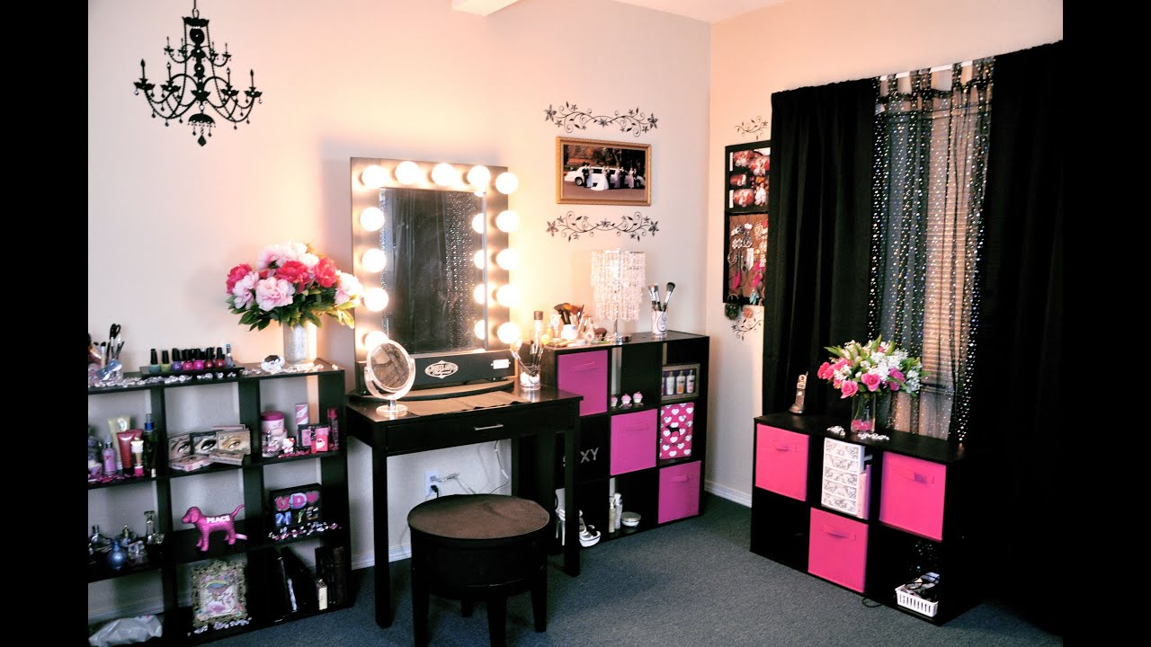 Vanity Tour/ Makeup Collection 2012! - YouTube on Makeup Room Ideas  id=91444
