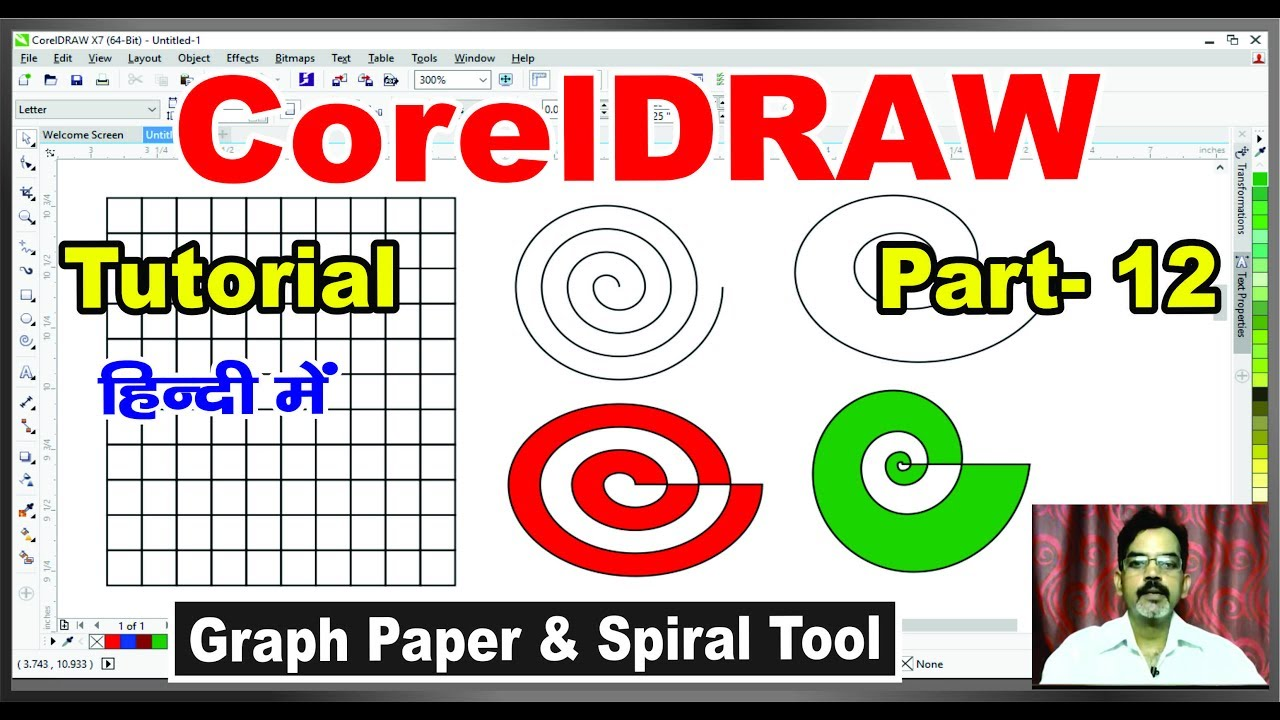 how to use graph paper spiral tools in coreldraw x 7 6 5 4 3