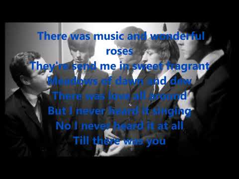 Till there was you with lyrics(The Beatles)