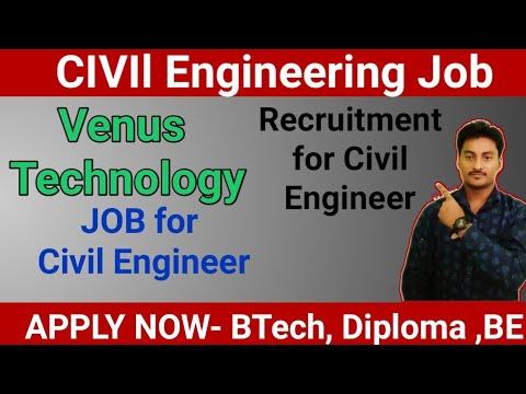 Venus Technology Recruitment For Civil Engineering |civil Engineering Latest Job
