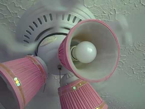 44 Quot Harbor Breeze Bella Vista Ceiling Fan With Pink Globes