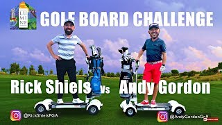 GOLFBOARD 3 HOLE GOLF CHALLENGE - RICK Vs ANDY
