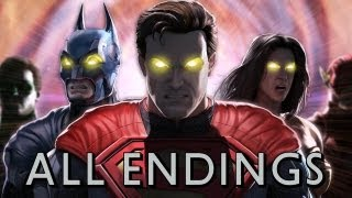 Repeat youtube video Injustice: Gods Among Us - All Character Endings TRUE-HD QUALITY