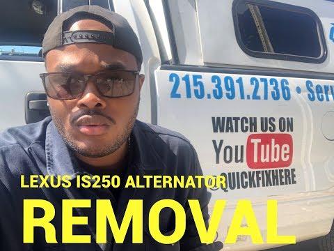 😅How to remove a 2008 Lexus IS250 alternator😃