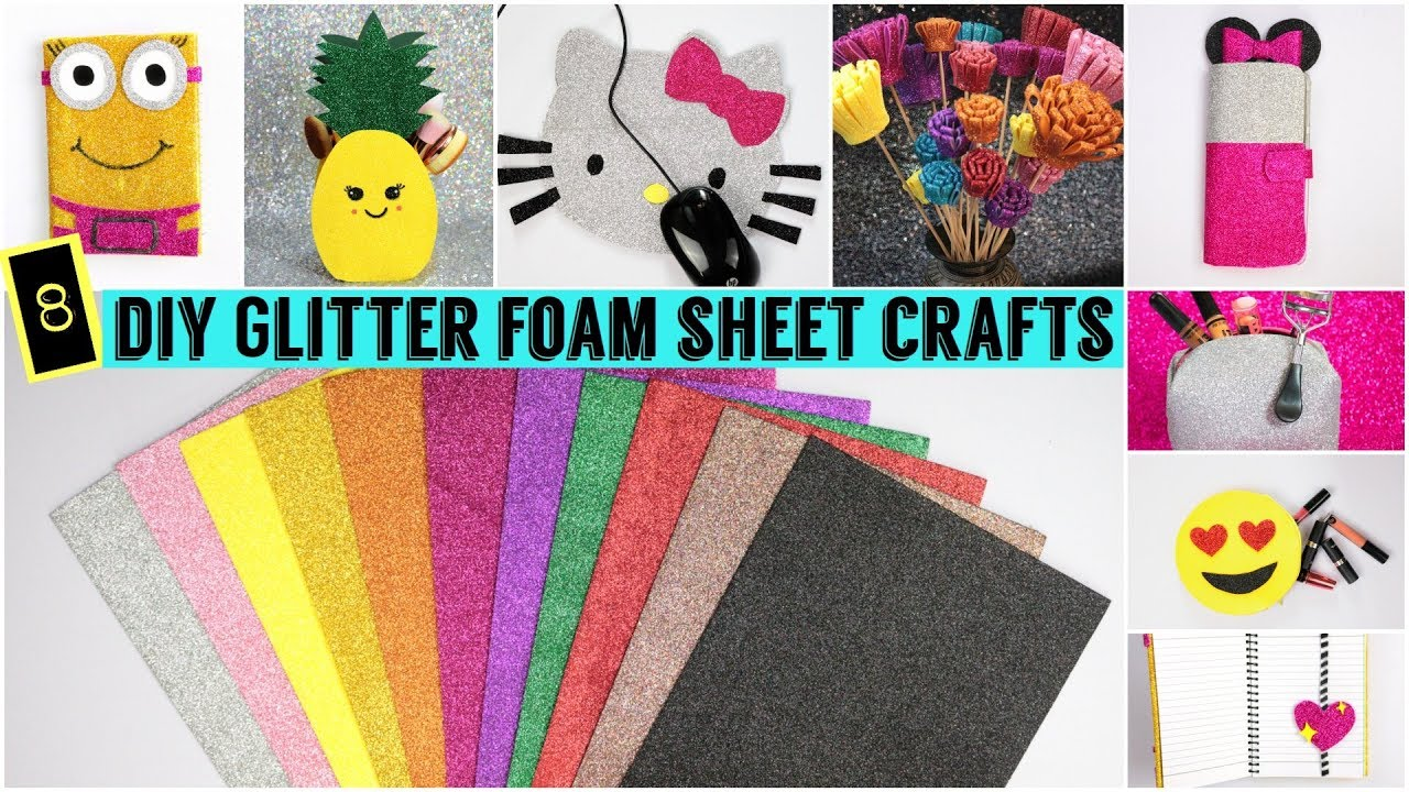 Diy 8 Easy Foam Sheet Crafts Quick And Easy Diy Youtube