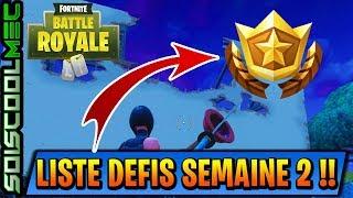LISTE DES DÉFI DU PASSE DE COMBAT SEMAINE 2! SAISON 4! FORTNITE BATTLE ROYAL! TUTO!