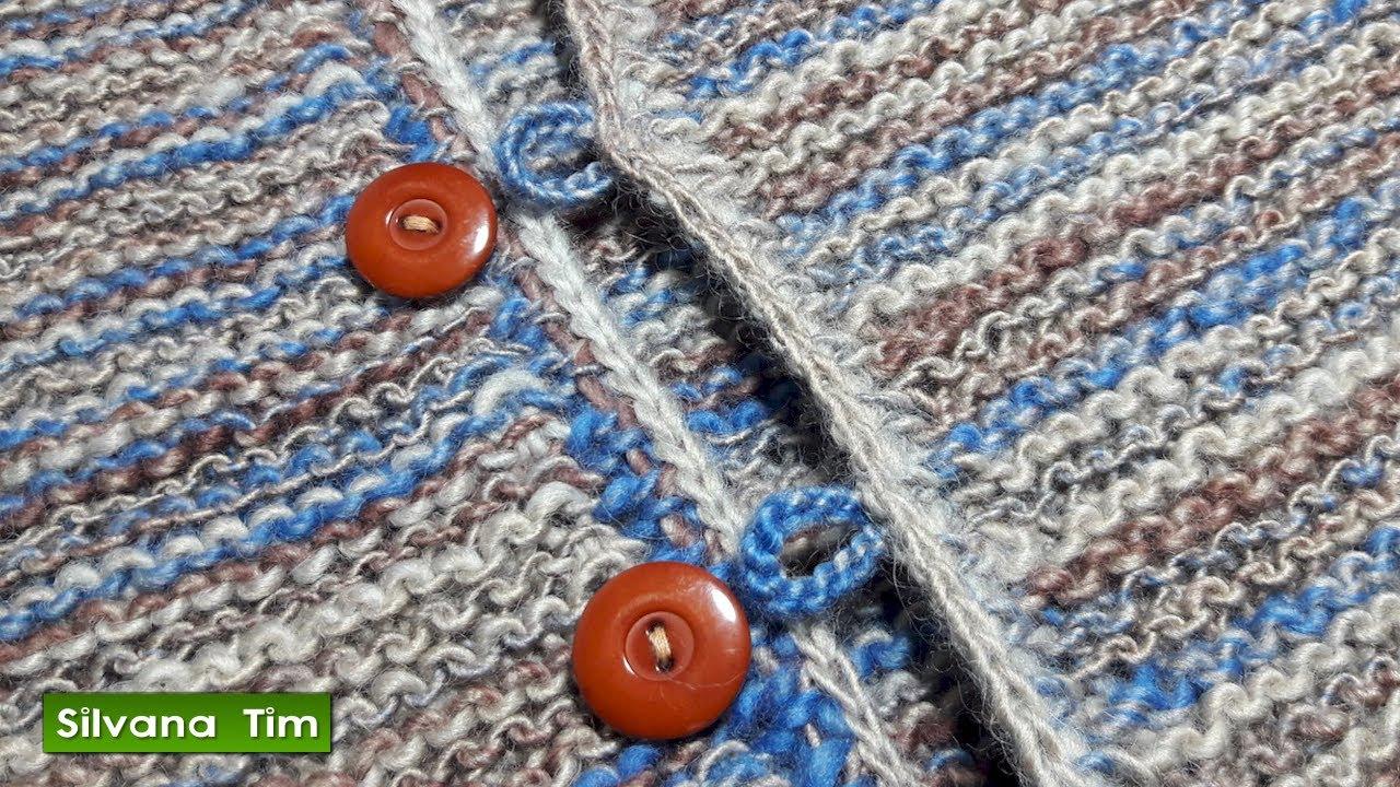 Cómo hacer ojales. Tejer ojales a crochet # 594 - YouTube