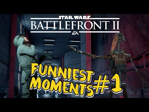 Star Wars Battlefront 2 - Funniest Moments #1 (Droid Uses Force!)
