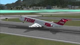 FSX TAM Fokker 100 Rio de Janeiro-Sao Paulo