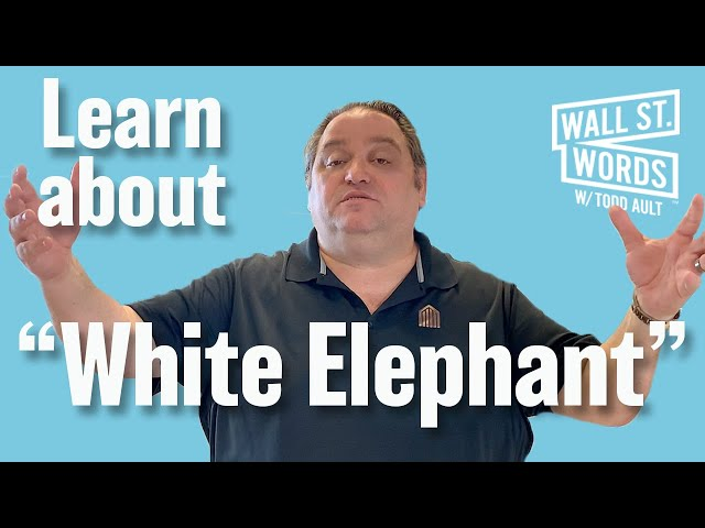 Wall Street Words word of the day = White Elephant