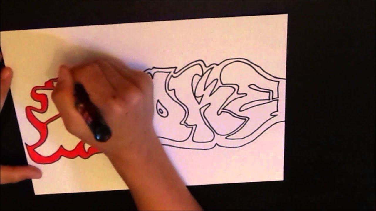 Graffiti Speed Drawing 1 Letters Smoke
