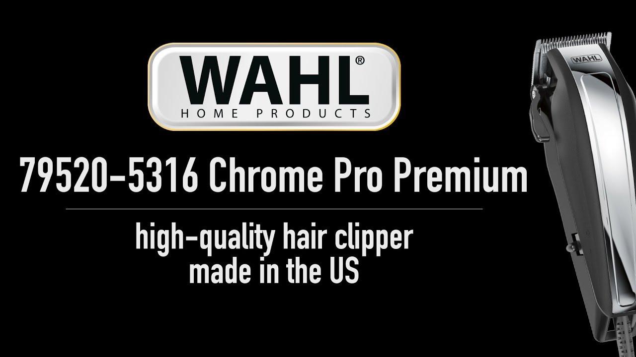 Wahl 79520 5316 Chrome Pro Premium Hair Clipper Youtube