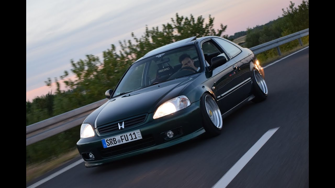 Stanced Civic Coupe X Five Star Fitment