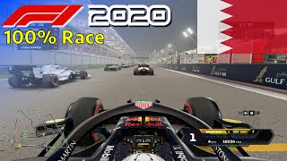 F1 2020 - 100% Race Bahrain in Verstappen's Red Bull | PS5