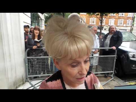 Dame Barbara Windsor at BBC Radio 2 London 05 09 2016