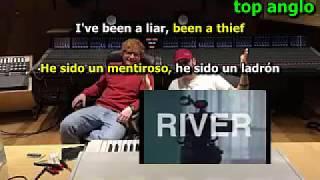 Eminem - River (ft. Ed Sheeran) [Lyrics+Español+Pronunciación]