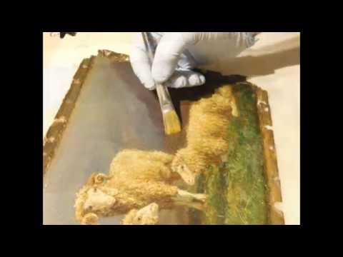 Oil Painting Restoration: Rosa Bonheur 19th Century Painting Of Sheep