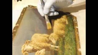 Repeat youtube video Oil Painting Restoration: Rosa Bonheur 19th Century Painting Of Sheep