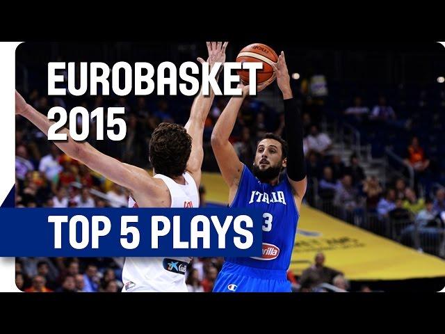 Κώστας Κουφός | Στο Top 5 της 3ης ημέρας του Ευρωμπάσκετ 2015 με το κάρφωμά του μ' ένα χέρι στο τελείωμα της πάσας από τον Νικ Καλάθη