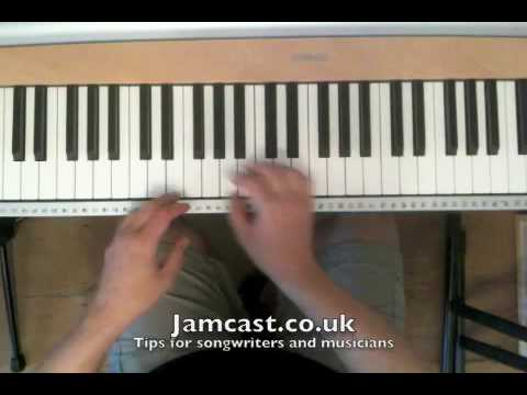 Piano tutorial: chord progressions and dominant chords - YouTube