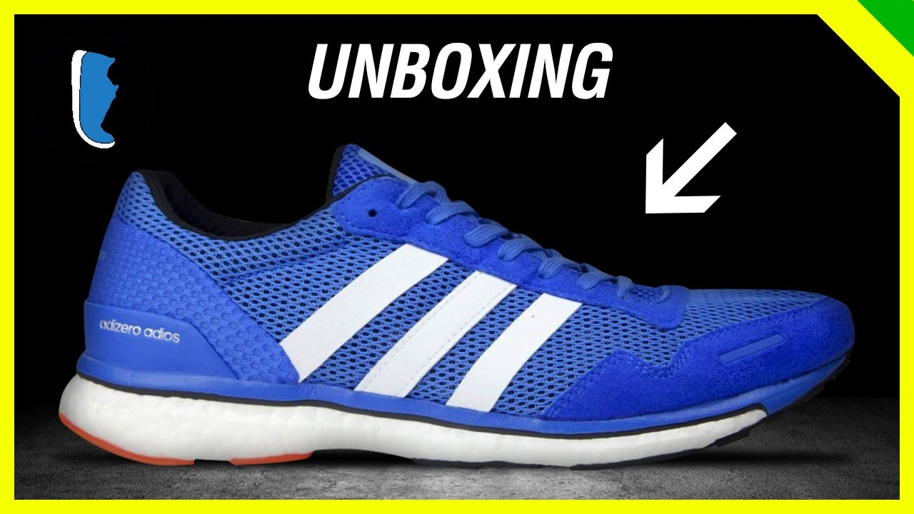 adidas adizero adios boost 3 unboxing youtube. Black Bedroom Furniture Sets. Home Design Ideas