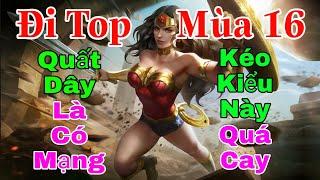 Wonder Woman mùa 16 đi top vs Zuka mạnh không tưởng - Cách chơi lên đồ trang bị bảng ngọc phù hiệu