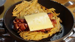 여자친구에게 바삭바삭한 감자 핫도그 만들어주기.