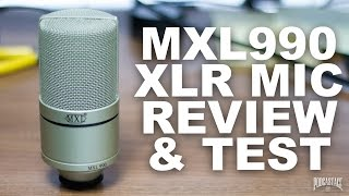 MXL-990 XLR Condenser Mic Review / Test
