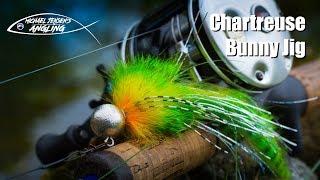 Chartreuse Bunny Jig - hair jig tying
