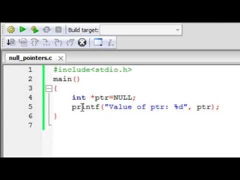 C Programming Tutorial - 57: Null Pointer