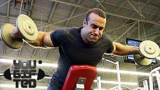 Куда вы без плеч!? Тренировка плеч и рук. Сергей Базаров.(Спортивное питание: http://www.okfit.ru Подписка на фитнес: http://bit.ly/yougiftedrussia Подписка на бодибилдинг: http://bit.ly/yougiftedbb..., 2013-09-20T05:54:46.000Z)