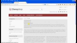 How to create CMS page in Magento