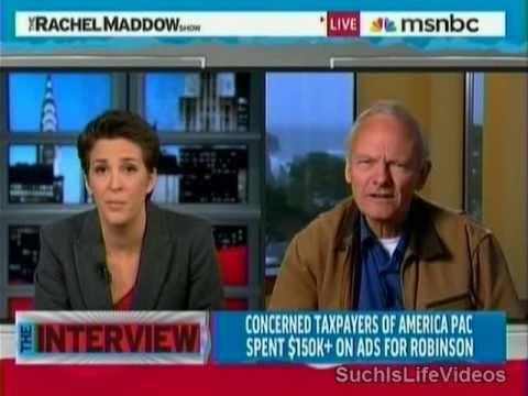 (R-OR) Art Robinson Throws Hissy Fit On Rachel Maddow!!! - Pt. One
