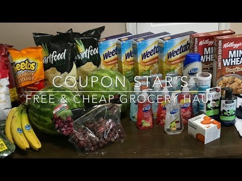 FREE & CHEAP GROCERY HAUL – August 11th 2017 – COUPONING IN CANADA!